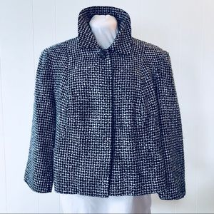 Spiegel Tweed Jacket One Button Black White
